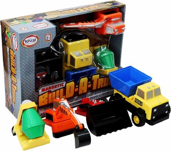 Mix and match by snapping together the big magnetic parts! For ages 2-5 yrs, from Popular Playthings.