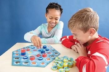Blue Orange Crab Stack Board Game