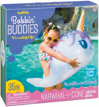 Toysmith Narwhal-I-Cone Inflatable Floatie