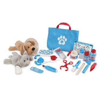 Melissa & Doug Examine & Treat Vet Pet Play Set