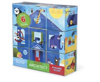 Crocodile Creek Little Architect Block Set Boys - Mix and Match Stacking Set