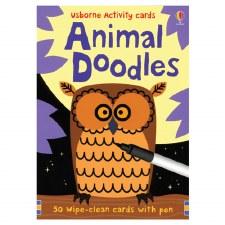 Animal Doodles Activity Cards- Usborne