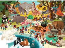 Crocodile Creek Day at the Zoo 48 Piece Puzzle