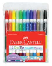 Duo Tip Washable Markers Set of 12 - Faber-Castell