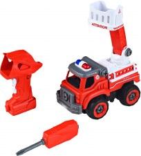 Power Driver Fire Ladder Truck
