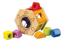 Shake and Match Wooden Shape Sorter - Hape