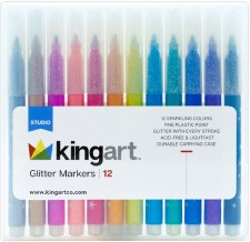 KINGART Glitter Markers - Set of 12