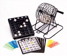 Bingo Game with Cage