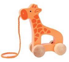 Wooden Giraffe Push Pull Toy - Hape