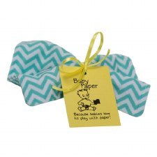 Turquoise ZigZag Baby Paper - Wize Choice Creations