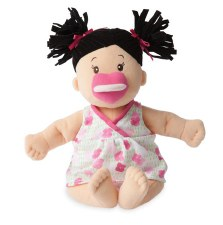 Manhattan Toy Baby Stella Black Hair Soft Nurturing Doll