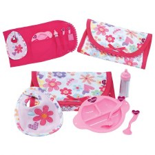 Baby Feeding Set 6-Piece w/ Bib and Bottle - Adora