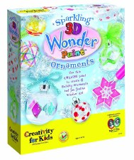 Sparking 3D Wonder Paint Ornaments - Creativity for Kids