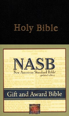 NASB Gift & Award Bible #933 - Black Imitation Leather