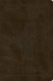 ESV Large Print Bible - Olive TruTone