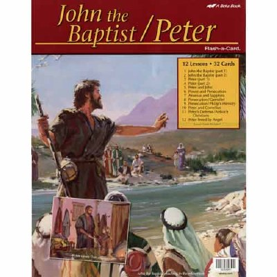 Abeka Flash-a-Cards: John the Baptist and Peter