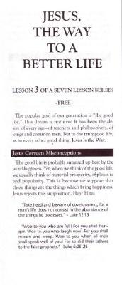CC-JESUS CHRIST IS THE WAY #3