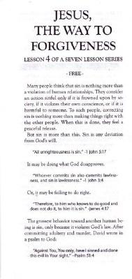 CC-JESUS CHRIST IS THE WAY #4