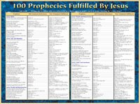 100 Prophecies Fulfilled by Jesus- Laminated