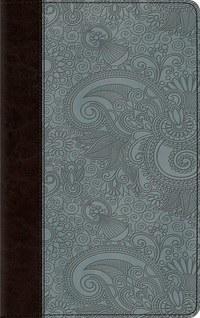 ESV Thinline Bible- TruTone Blue and Brown Garden Design
