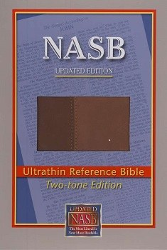 NASB Ultrathin Reference Bible - Brown Imitation Leather