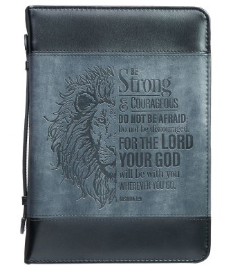 BIBLE COVER- BE STRONG LG