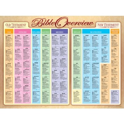 Bible Overview Laminated