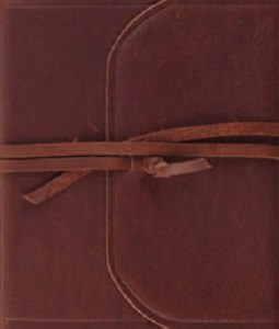ESV Journalign Bible with Strap - Natural Leather