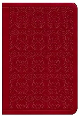 ESV Value Compact Bible - Ruby Vine TruTone