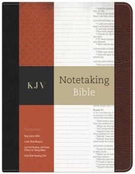 KJV Notetaking Bible- Black/Brown Bonded Leather