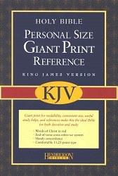 KJV Giant Print Reference Bible - Burgundy Imitation Leather