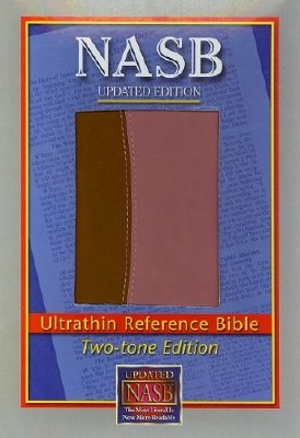 NASB Ultrathin Pink/Brown Bible