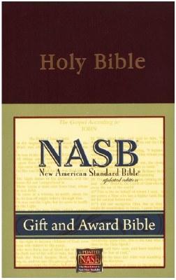 NASB Gift & Award Bible #931 - Burgundy Imitation Leather