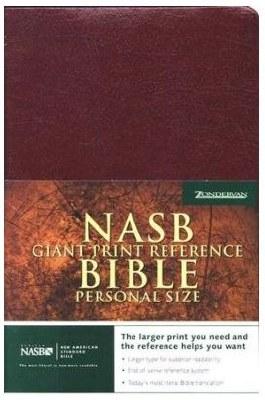 NASB Giant Print Reference Bible - Burgundy