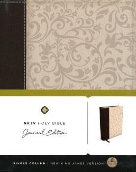 NKJV Journaling Bible - Brown/Cream Hardcover