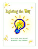 Shaping Hearts for God: Lighting the Way Level 1 Workbook