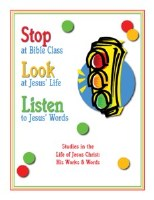 Shaping Hearts for God: Stop, Look, and Listen Level 1 Workbook