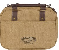 Bible Cover - Amazing Grace, Tan, Large
