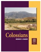 Colossians: The Bible Text Book Series