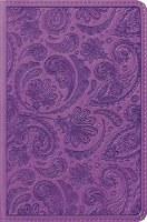 ESV Compact Bible - Purple Paisley Trutone