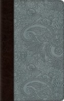 ESV Thinline Bible- TruTone Blue and Brown Garden Design