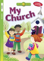 Happy Day- My Church Coloring Book with Stickers