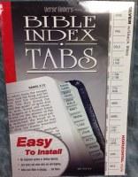Index Tabs- Verse Finders Horizontal Silver