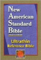 NASB Ultrathin Bible - Burgundy Bonded Leather