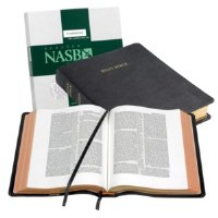 NASB Wide Margin Reference Bible - Black Goatskin