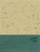 NKJV Beautiful Word Bible - Taupe/Blue