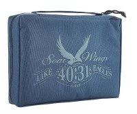 Bible Cover - Canvas, Navy, Soar, Large