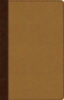 ESV Ultra Thin Bible- TruTone Brown and Gold