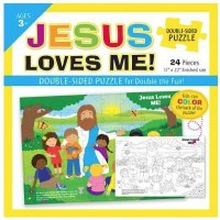 "Puzzle - Double Sided ""Jesus Loves Me"""