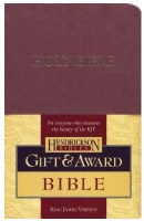 KJV Gift & Award Bible - Burgundy